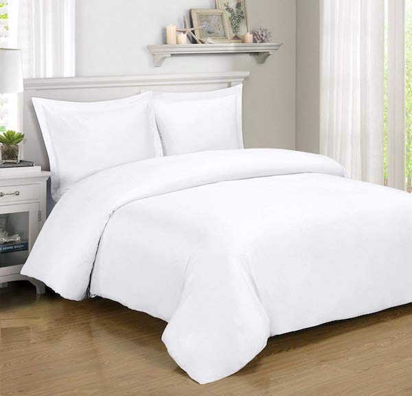 White Bamboo Duvet cover by Royal Hotel